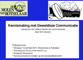 Geweldloze communicatie 7 november 2017