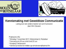 Geweldloze communicatie 7 november 2017