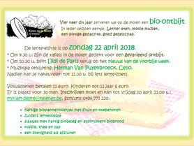 Bio-ontbijt voorjaar 2018