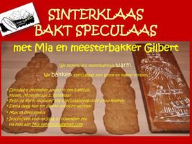 Sinterklaas bakt speculaas