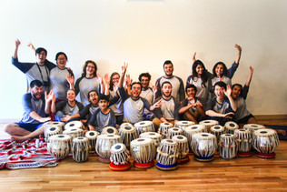 The innaugural Das Music Camp participants posing just before the final concert. (2017)