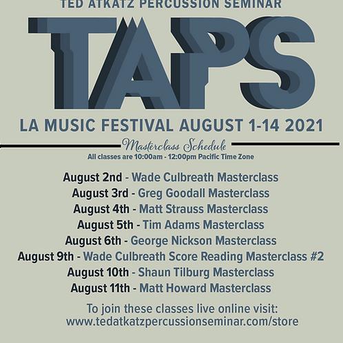 (8/2)  Class Pass: Wade Culbreath Masterclass