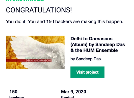 The Delhi to Damascus Kickstarter was Successful!