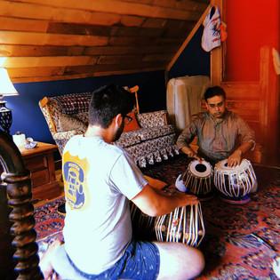 Sandeep Das teaches a private lesson at Das Music Camp. (2017)