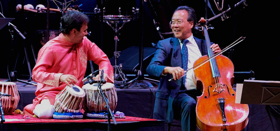 Performing with Yo-Yo Ma