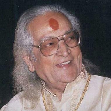 Pt. Kishan Maharaj smiling