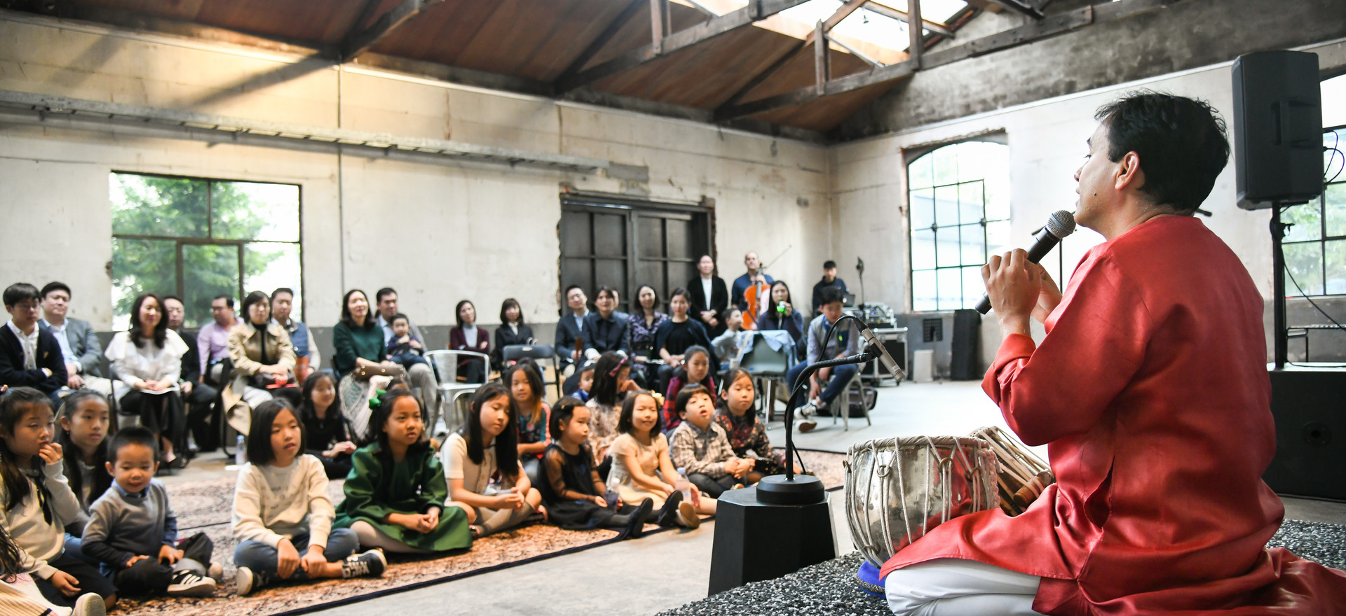 Interacting with Children at a Private Event in Korea (Oct. 2018)