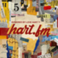 love hart presents hart.fm album cover created by eric hart jr.