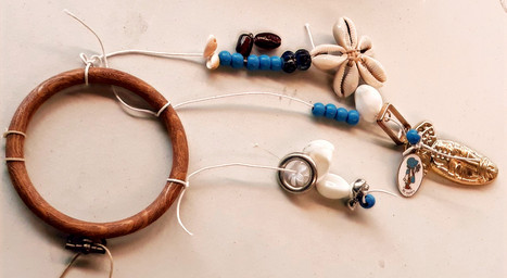 Mobiles using recycled materials