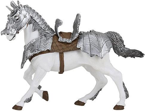 Papo 39799 Cavallo in armatura L'era medievale