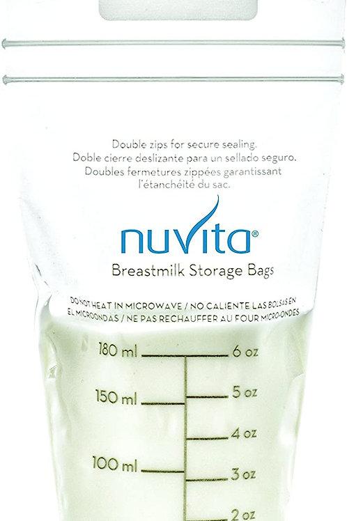 Nuvita 1252  Sacchetti per Latte Materno 25pz 180ml