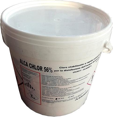 Commercializzato da Alca Chimica, Chlor 56% Dicloroisocianurato Bi-idrato 10 kg