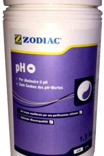 Zodiac PH Meno Confezione da 1,5KG per Abbassare e Stabilizzare Il PH