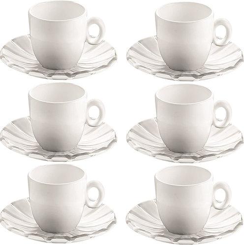 Guzzini  Set di 6 tazze da caffè Grace
