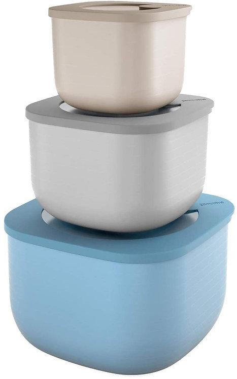 Guzzini Kitchen Active Design Set 3 Contenitori Ermetici Store&More Alti