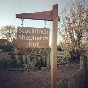 Stocklinch Shepherds Hut sign