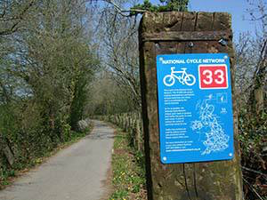 NCN 33 runs right past the hut