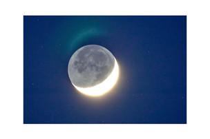 Slivered moon