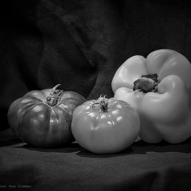 Heirloom tomatoes and pepper