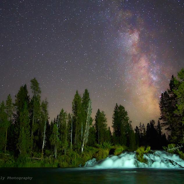 Milky Way and Fall Creek Falls, OR