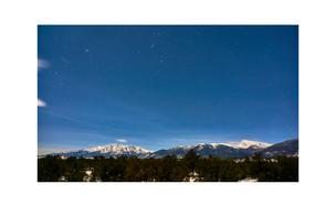 Collegiate Peaks at night