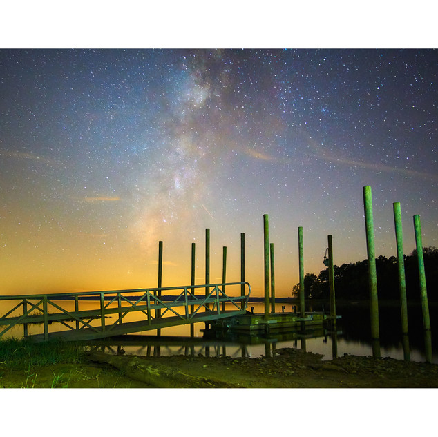 Milky Way and posts, Toledo Bend