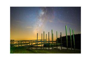 Milky Way and posts, Toledo Bend