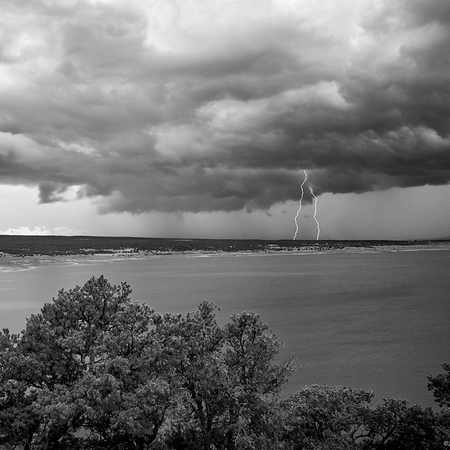 Lightning over Bluewater Lake State Park, New Mexico