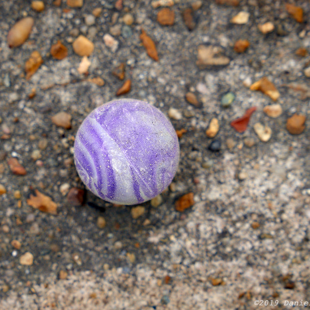Lost purple ball