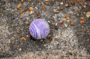 Lost purple ball
