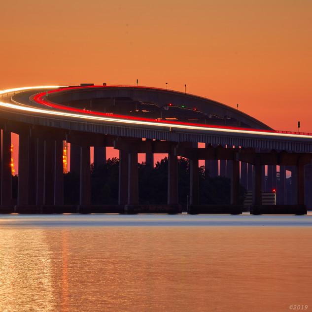 I-210 bridge streaks