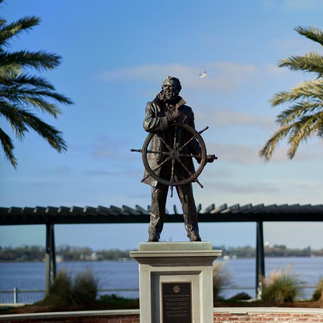 Captain Daniel J Goos statue, Lake Charles Civic Center