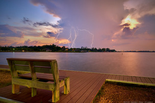Lightning and bench