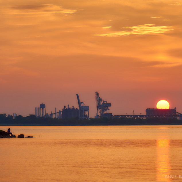 Pondering sunset