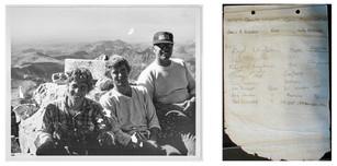 Dan - Grand Teton 1977 and summit register