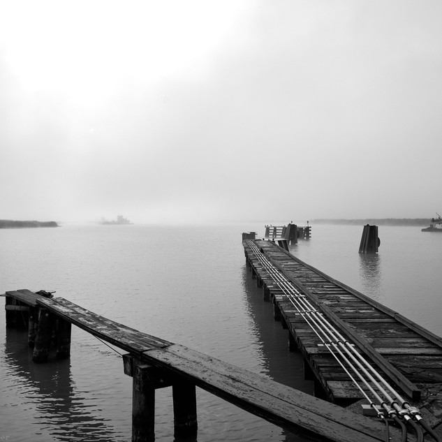 Swing bridge and tow boats