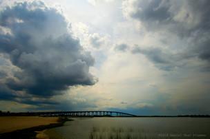 Clouds above bridge