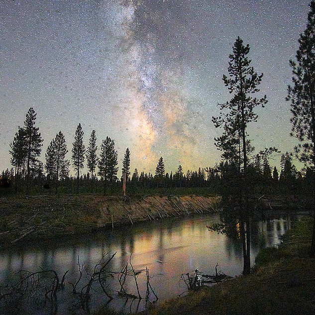 Milky Way over Deschutes River, OR