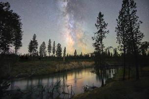 Milky Way over Deschutes River
