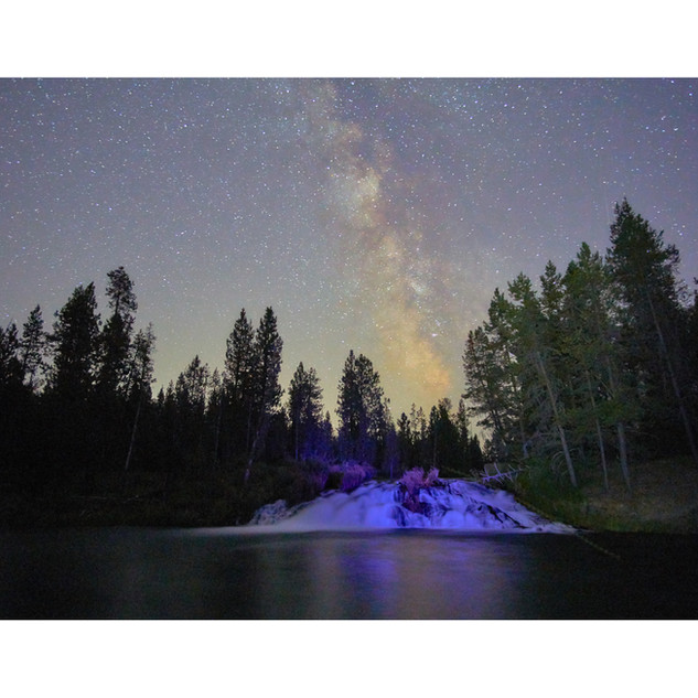 Falls and Milky Way, OR