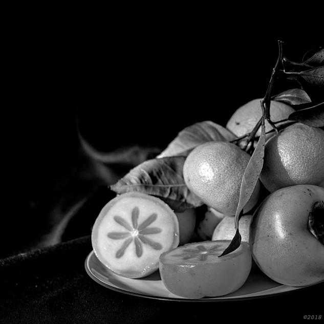 Persimmons and satsumas