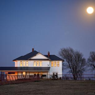 Prairie house moonrise, Osage County