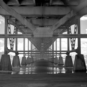 I-10 bridge, digital IR view