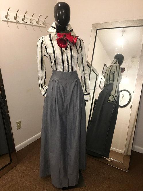 Denim Flared Skirt