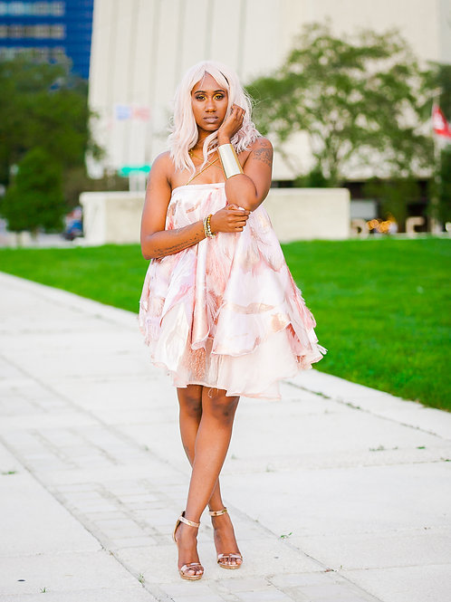 Brocade Baby Doll Dress