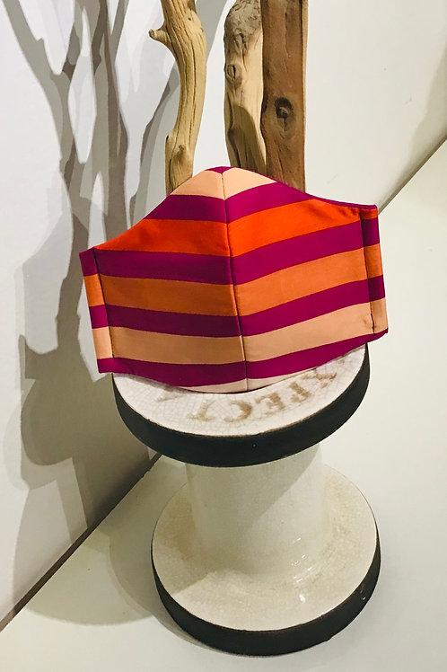 Stripe Peach Mask