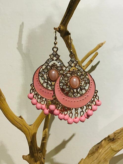 Beaded chandeliers pink