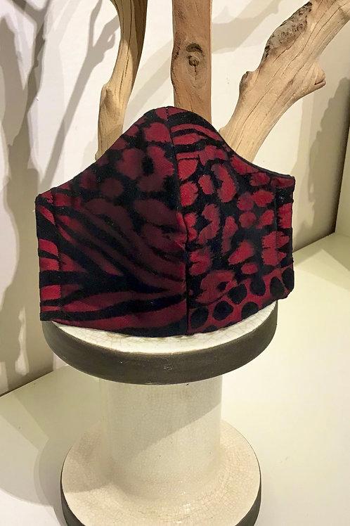 Black Animal print Mask