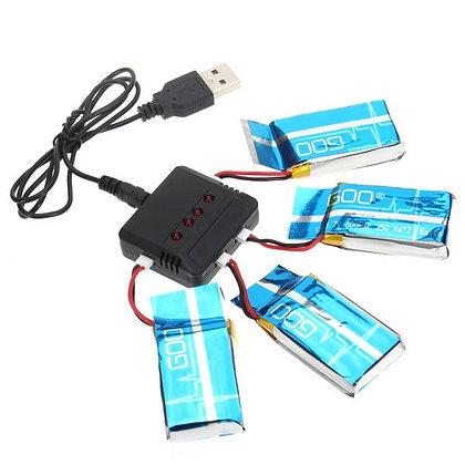 Multicargador con 4 baterías
