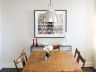 Stylish modern Brooklyn dining room